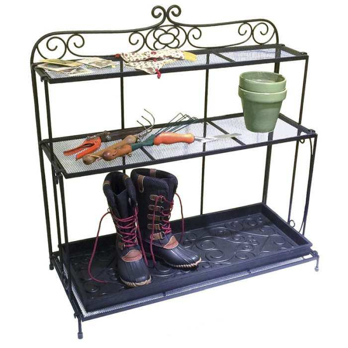 Achla Gardener's Boot Shelf