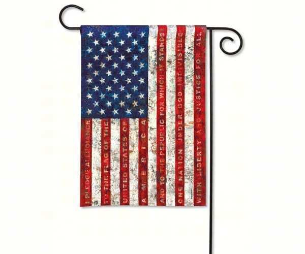 Breeze Art Pledge of Allegiance Garden Flag