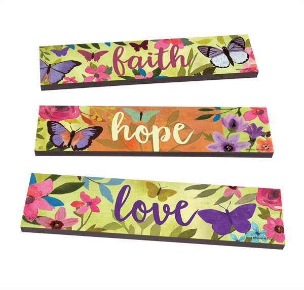 Art Planks Faith, Hope, Love Set of 3