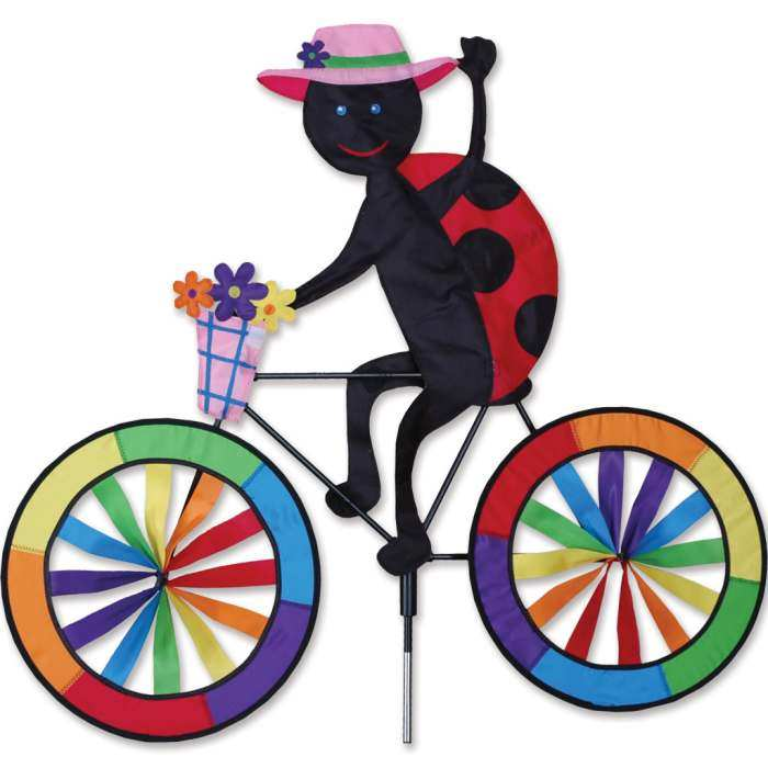 Ladybug Bicycle Garden Spinner Large