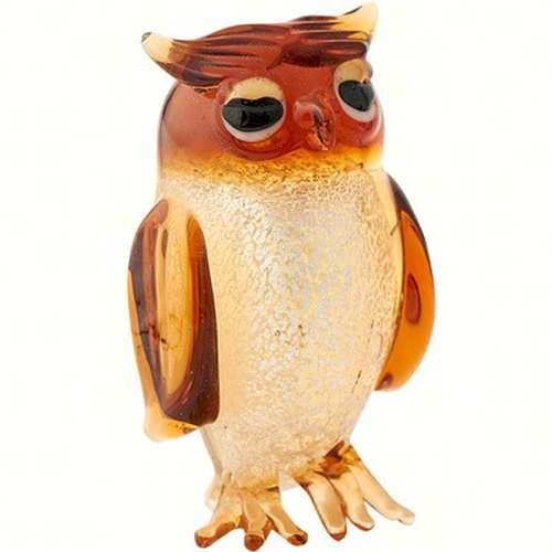 Milano Art Glass Animal Owl