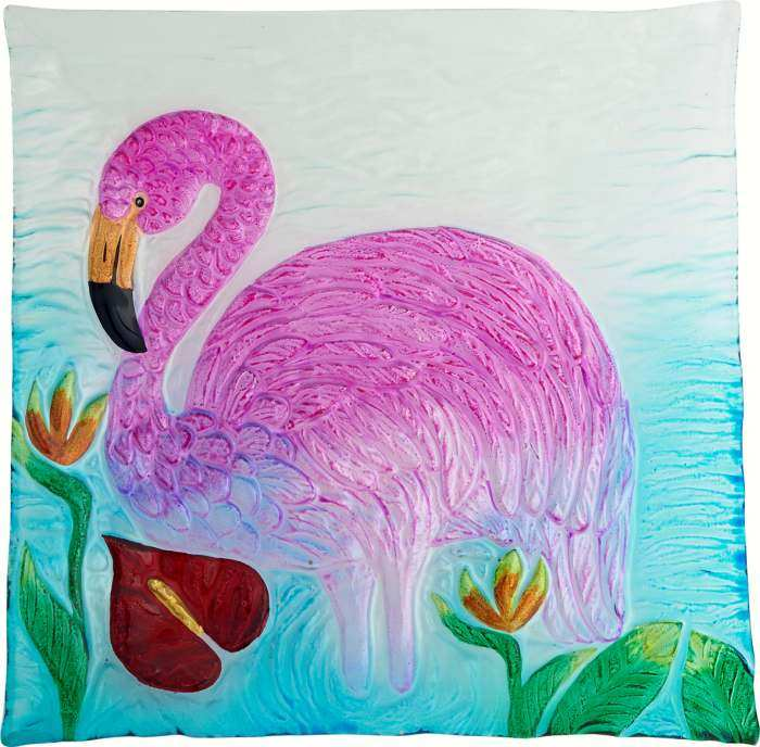 Flamingo Platter Square 12