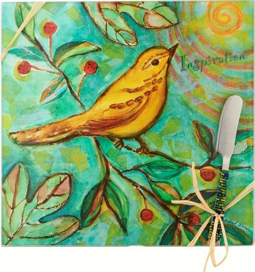 Cheese Board Set Bird Inspiration Square 9