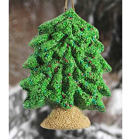 Merry Christmas Tree Hanging Edible Bird Feeder