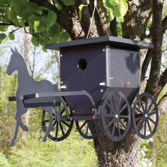 Horse And Buggy Accent Spinner Large Garden Accent Spinners At Songbird Garden