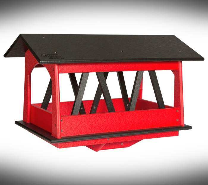 Amish Recycled Poly Covered Bridge Bird Feeder