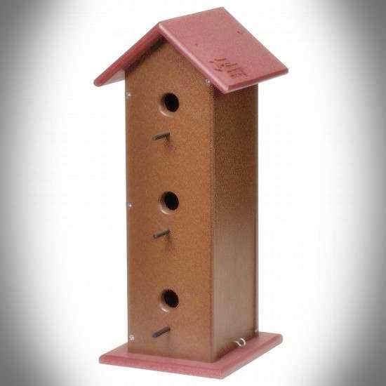 Amish Recycled Poly Trio Bird House