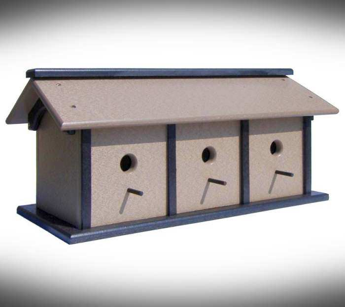 Amish Recycled Poly Triple Bird House