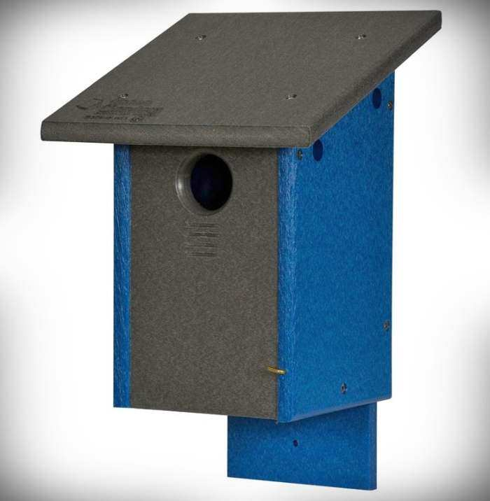Amish Recycled Poly Classic Bluebird House