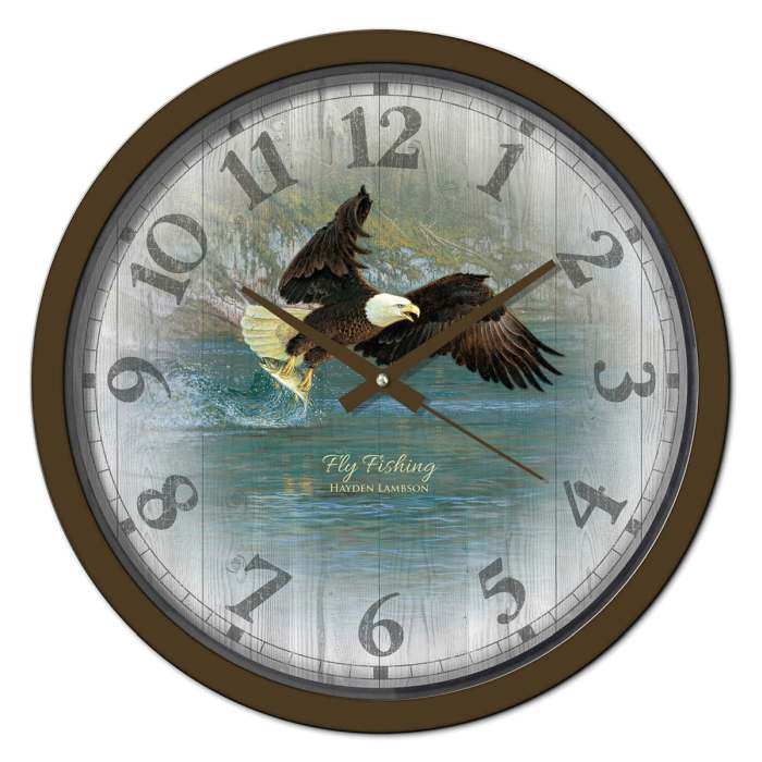 Fly Fishing 15 Inch Decorative Wall Clock
