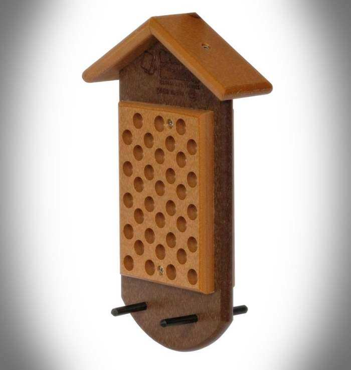 Amish Recycled Poly Double Peanut Butter Feeder
