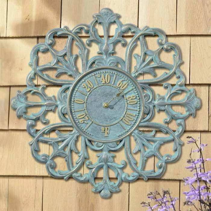 Filigree Silhouette Outdoor Thermometer 21