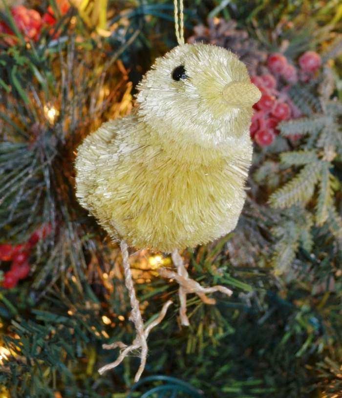 Brushart Bristle Brush Ornament Chick with Legs