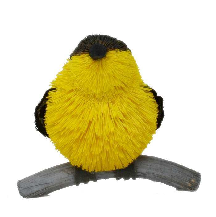 Brushart Bristle Brush Animal Goldfinch