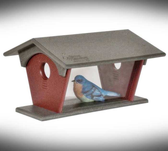 Amish Recycled Poly Bluebird Feeder Large