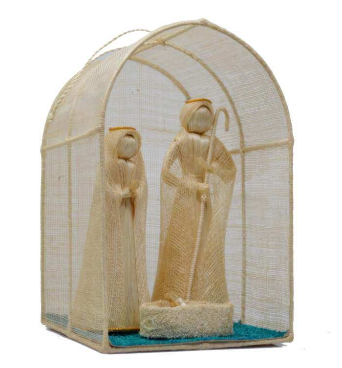 Abaca Nativity with Manger 8