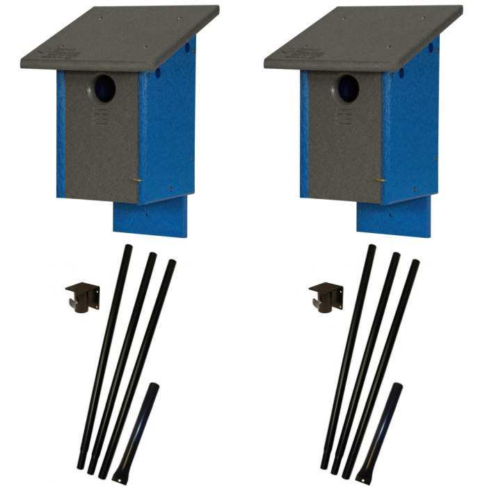 Amish Recycled Poly Classic Bluebird House Package