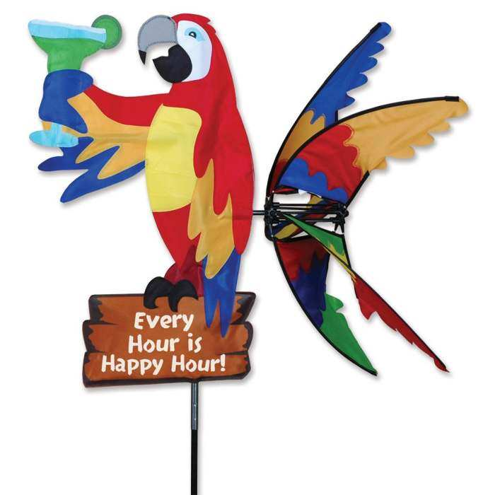 Island Parrot Wind Spinner - Happy Hour 33
