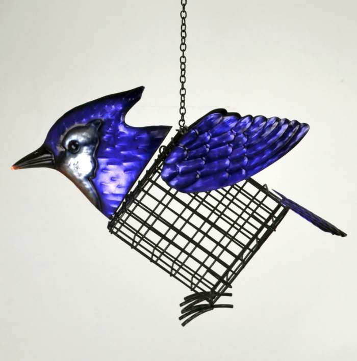 Deluxe Suet Cage Feeder Blue Jay