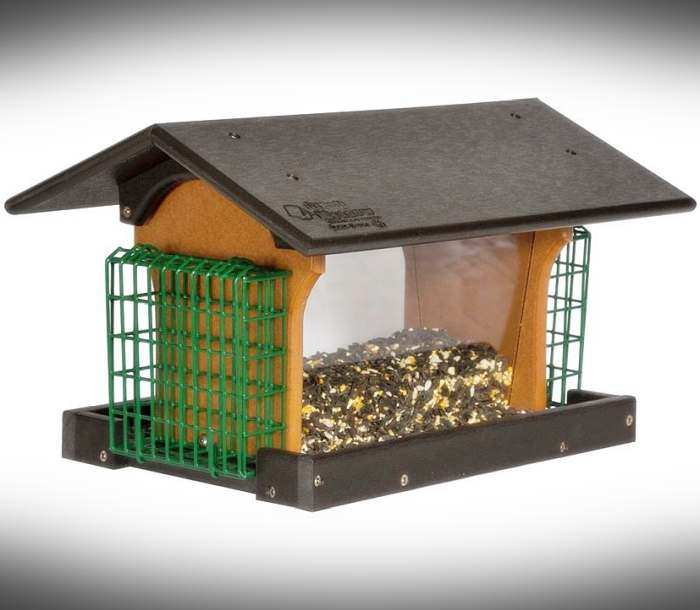 Amish Recycled Poly Deluxe Hopper Feeder w/Suet
