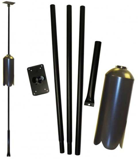 Best 5-Piece Pole Set w/Ground Socket and Baffle