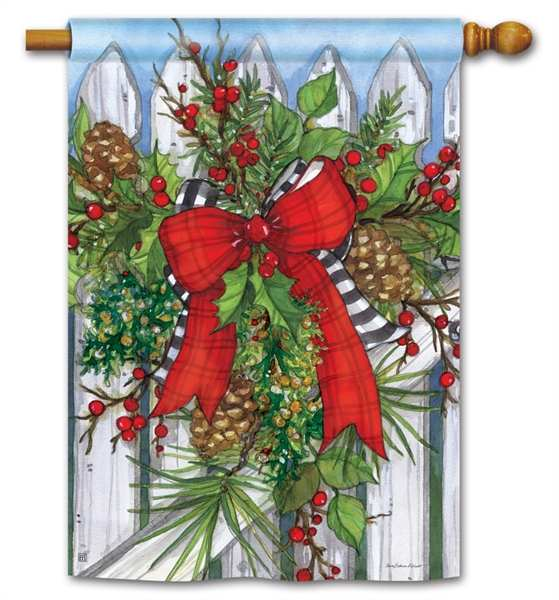 Breeze Art Holiday Garland House Flag