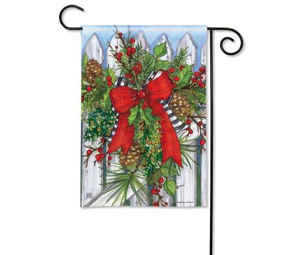 Breeze Art Holiday Garland Garden Flag