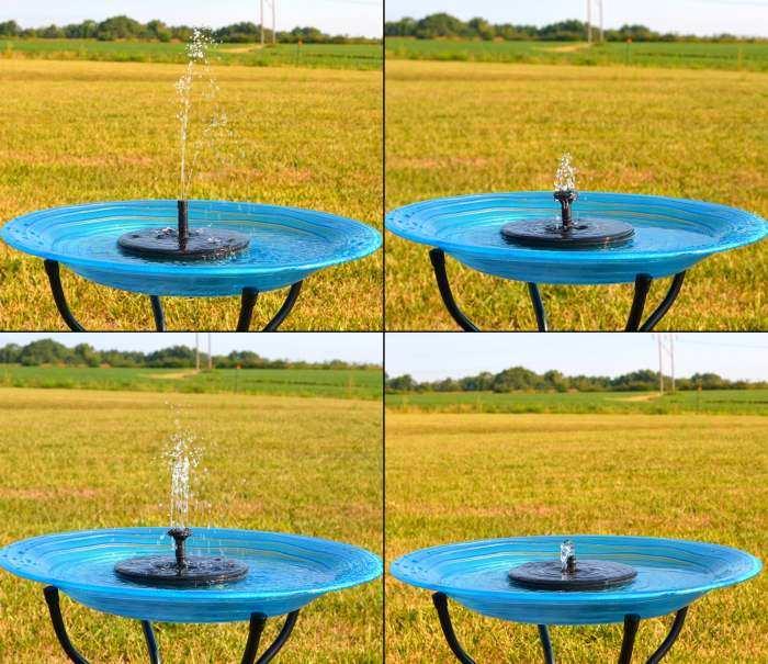 Songbird Solar Birdbath Bubbler Insert Fountain At Garden