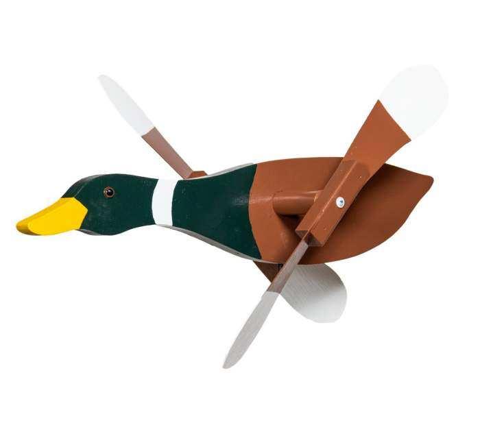 Mallard Duck Whirligig Whirly Bird Garden Spinner