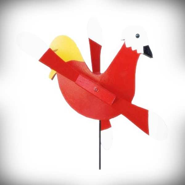 Whirlybird Red Rooster Spinner w/Pole