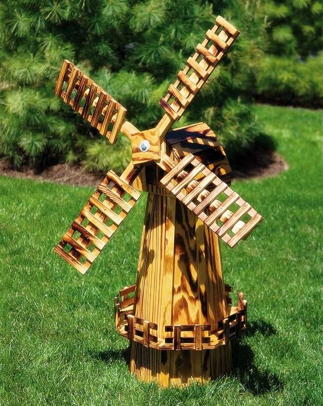 Amish Made Wooden Windmill Medium 40