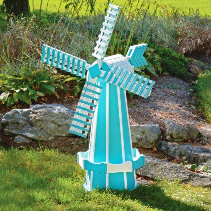 Amish Made Poly Windmill Aruba Blue/White