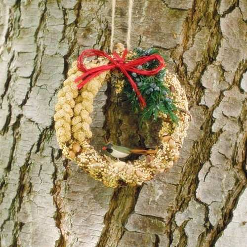 Rustic Edible Bird Seed Wreath 6