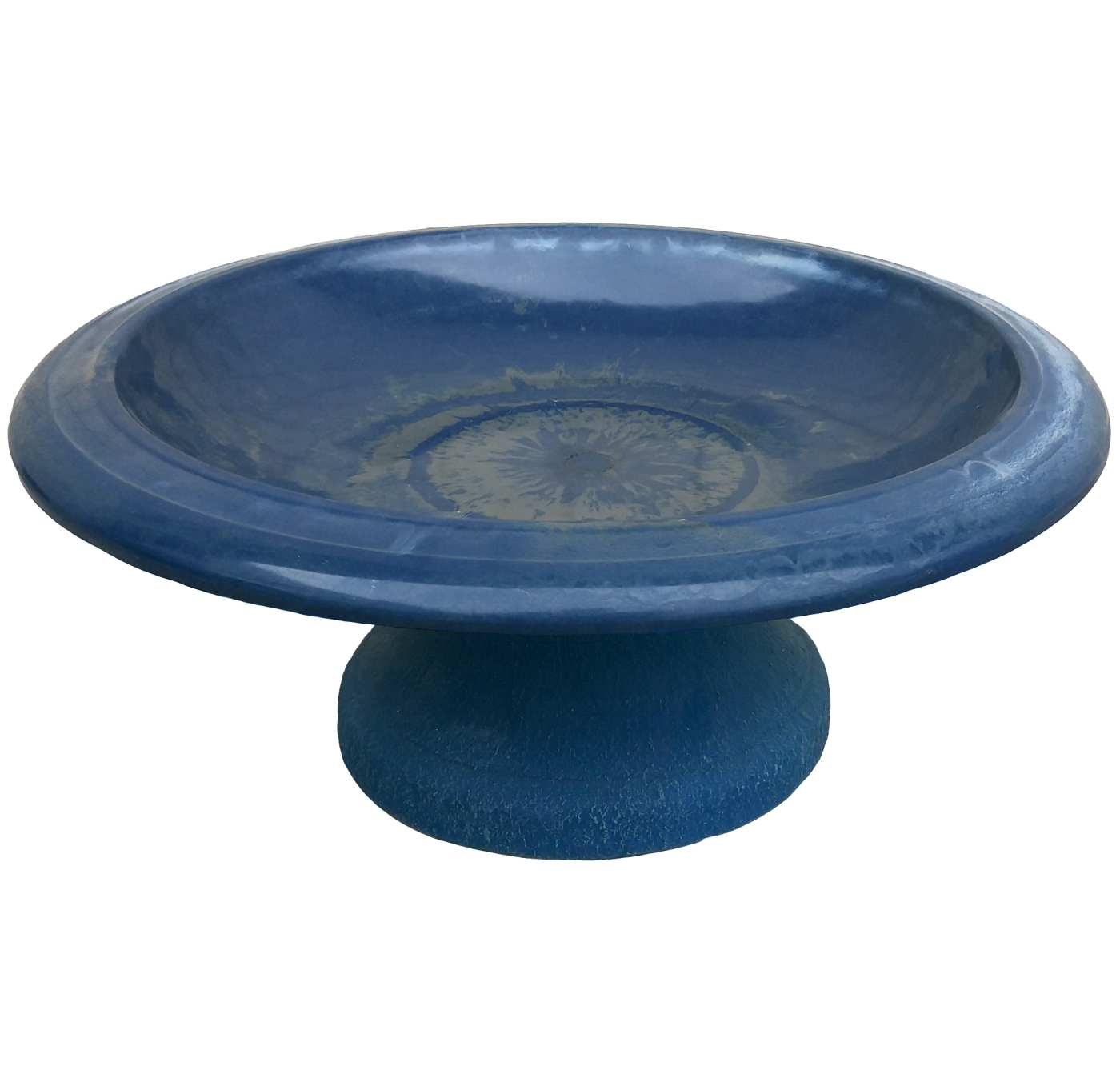 Tierra Fiber Clay Bird Bowl w/Small Base Navy Blue