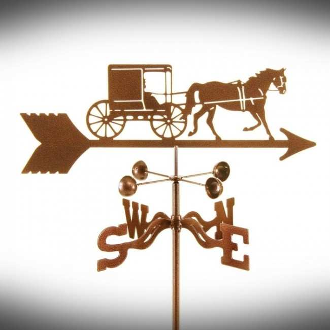 EZ Amish Horse and Buggy Weathervane Package