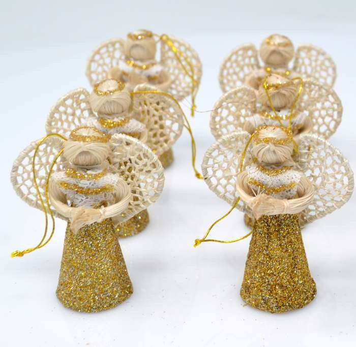 Abaca Angel Liway w/Lace & Gold Dust 2
