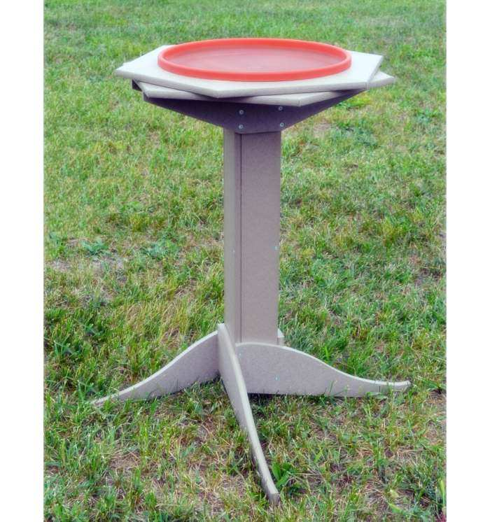 Deluxe Recycled Poly Heated Double Ring Bird Bath