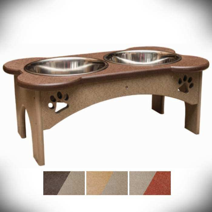 Amish Recycled Poly Elevated Pet Tray 8