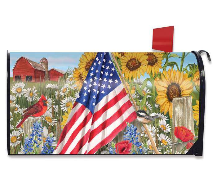 Briarwood America the Beautiful Mailbox Cover