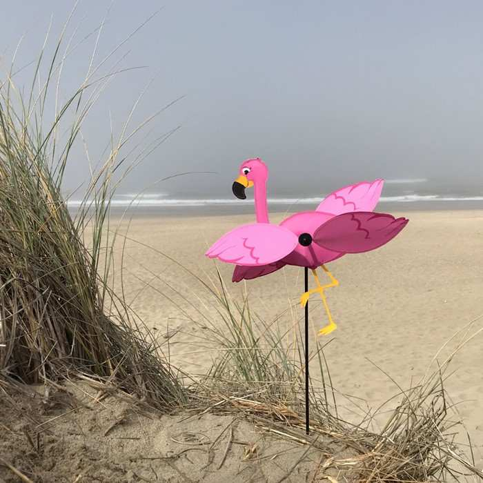 Baby Flamingo Whirligig Wind Spinner