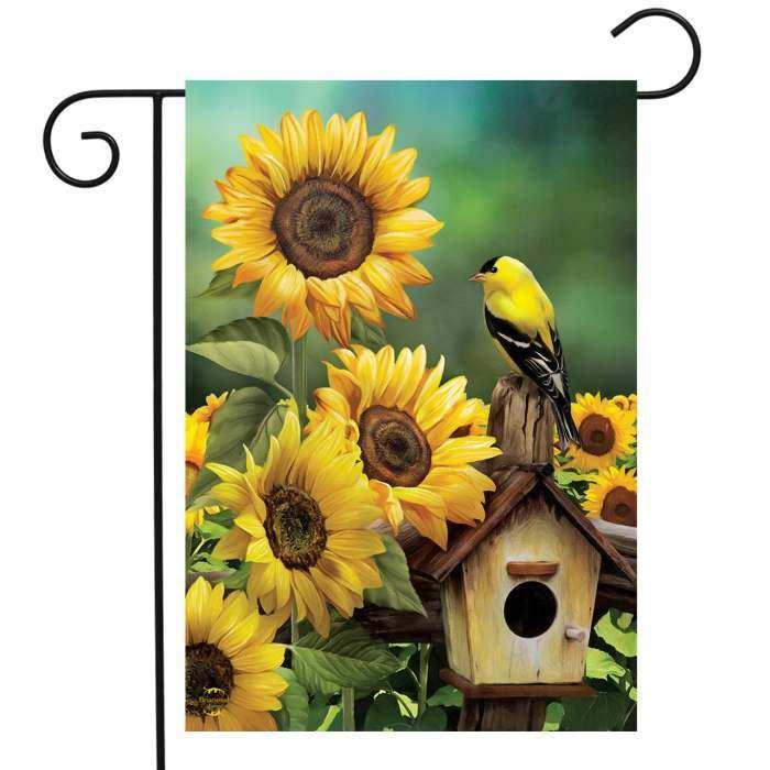 Briarwood Lane Goldfinch And Sunflowers Garden Flag Accent Flag Quality Decorative Garden Flags At Songbird Garden