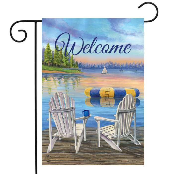 Briarwood Waterfront Retreat Garden Flag