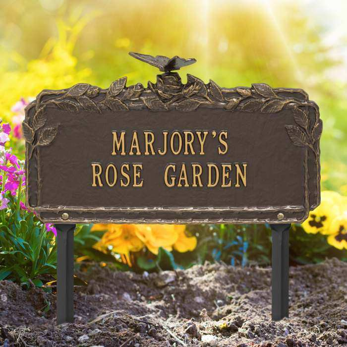 Personalized Garden Plaque Butterfly
