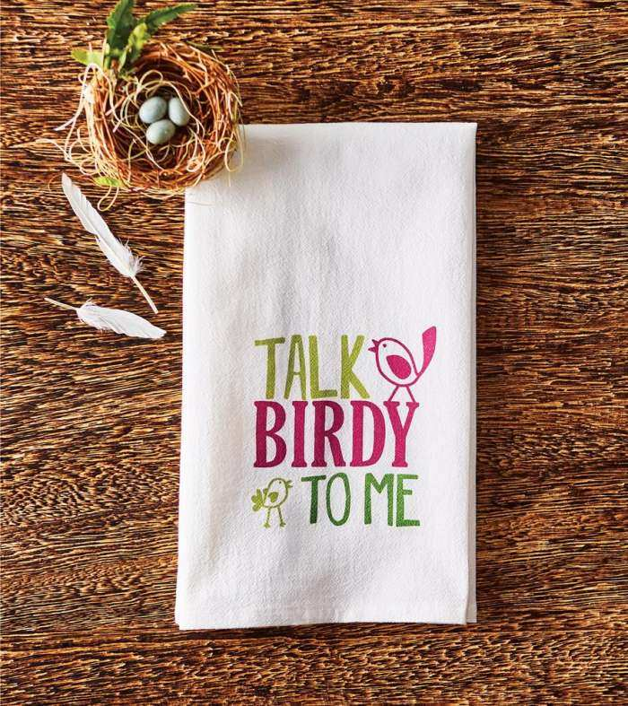 Flour Sack Towel Talk Birdy To Me 2/Pack