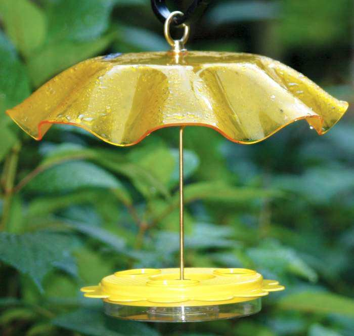Flutterby Butterfly Feeder w/Yellow Weather Guard