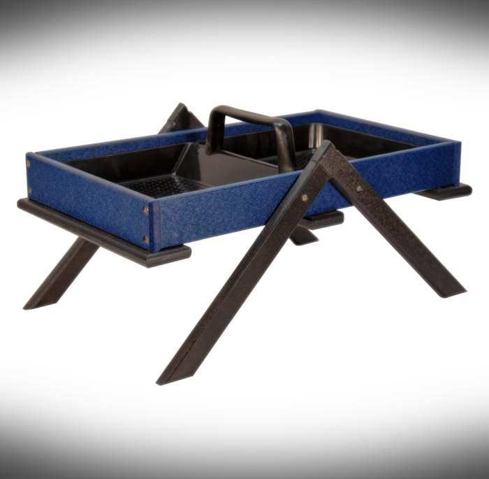 Recycled Poly Large Tray Ground Feeder Blue