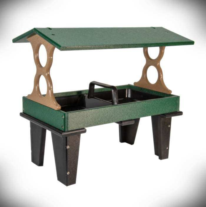 Poly Ground Fly-Thru Feeder Large Green/Tan