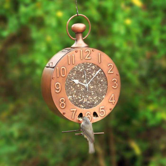 Time Fly's Copper Bird Feeder