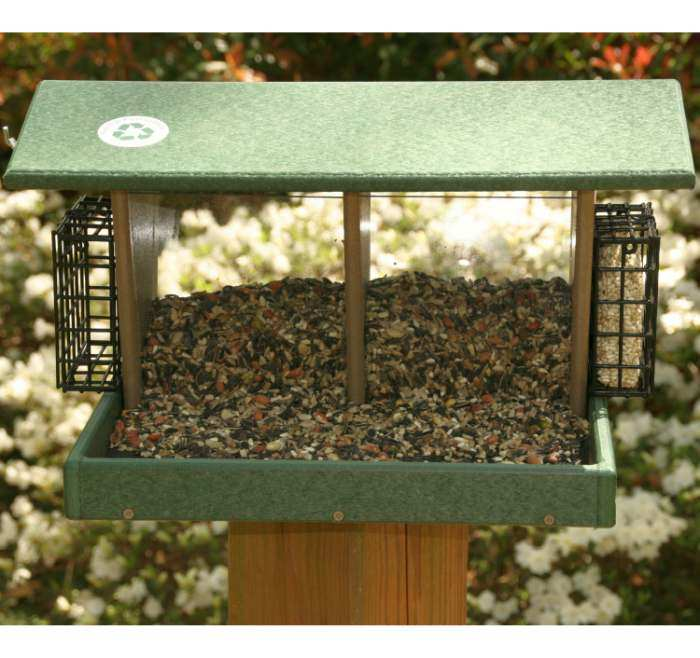 Rubicon Large Double Hopper Feeder w/Suet Cages