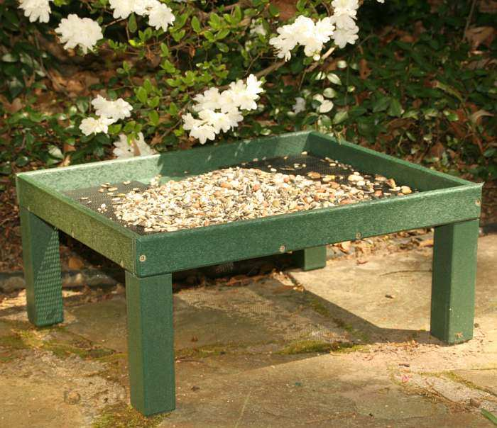 Rubicon Recycled Ground Platform Bird Feeder
